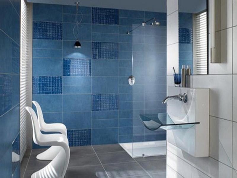 bathroom with blue tile 35 large blue bathroom tiles ideas and pictures 17191