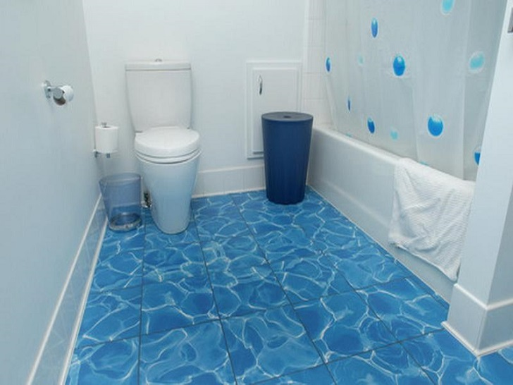 Blue Bathroom Tiles Creditrestore Us
