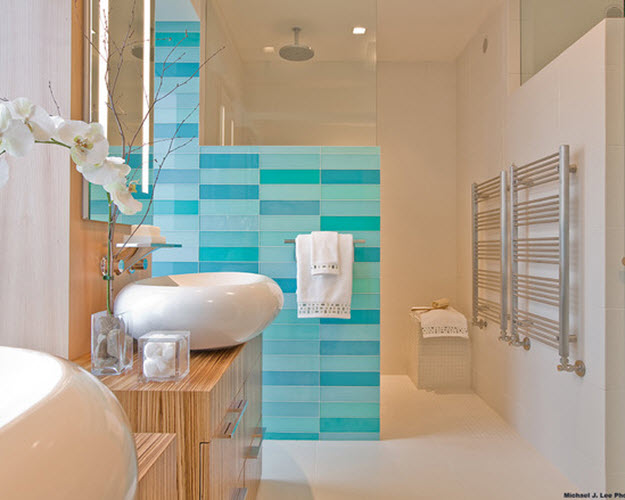 Blue Bathroom Border Tiles