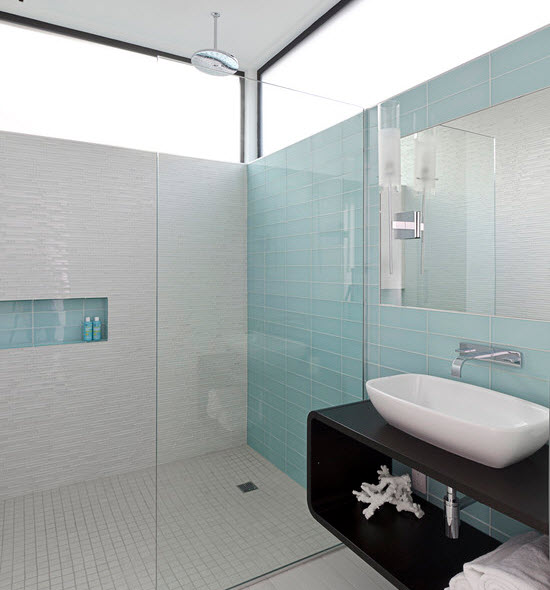 40 Light Blue Bathroom Tile Ideas And Pictures 2019