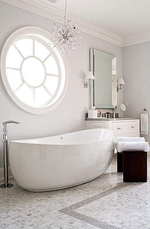 37 Light Gray Bathroom Floor Tile Ideas And Pictures 2020
