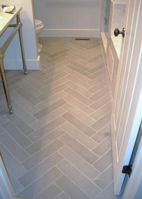 37 light gray bathroom floor tile ideas and pictures for Grey wood floor bathroom