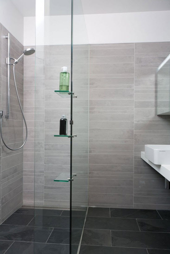Excellent 24 Grey Green Bathroom Tiles Ideas And Pictures
