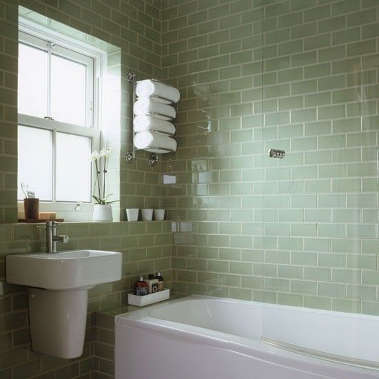 New 40 Light Green Bathroom Tile Ideas And Pictures