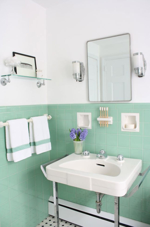 Simple 40 Light Green Bathroom Tile Ideas And Pictures