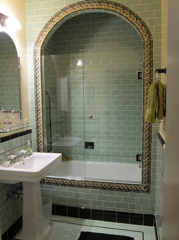 Brilliant  Tile Brown Bathroom Floor Tiles Mint Green Bathroom Tile Sage Green