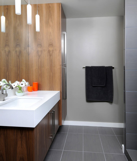 Light Grey Bathroom Tiles Grey Metro Bathroom Tiles Contemporary