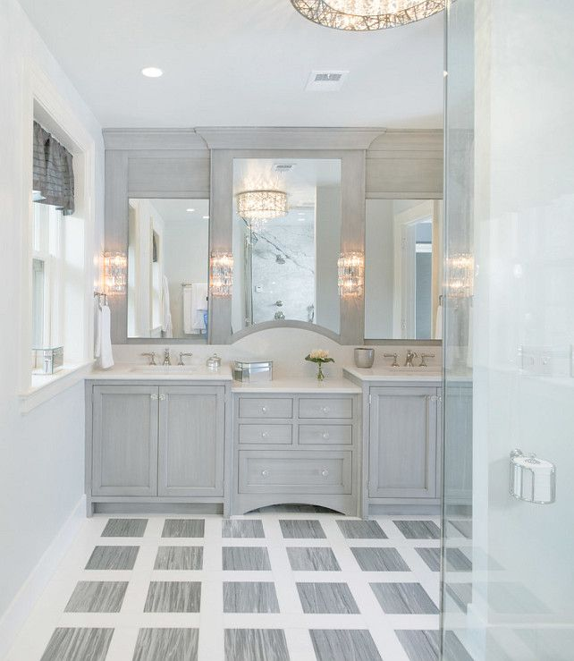 Light Grey Tiles For Bathroom: 37 Light Grey Bathroom Floor Tiles Ideas And Pictures