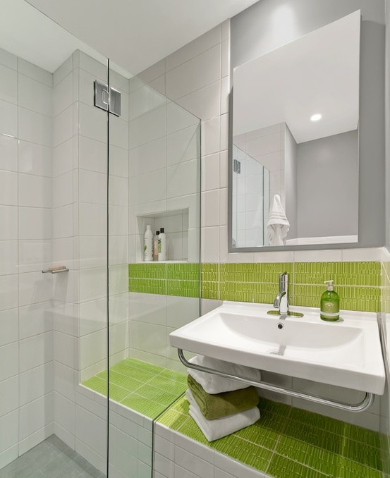 Lime Green And Grey Bathroom. Lime_green_bathroom_tiles_11 Lime_green_bathroom_tiles_12 Bright Modern Bathroom Interior Lime Green