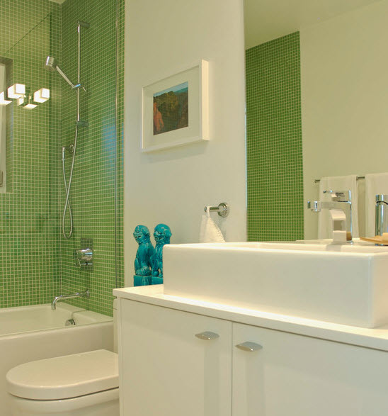 40 lime green bathroom tiles ideas and pictures for Lime green bathroom ideas pictures