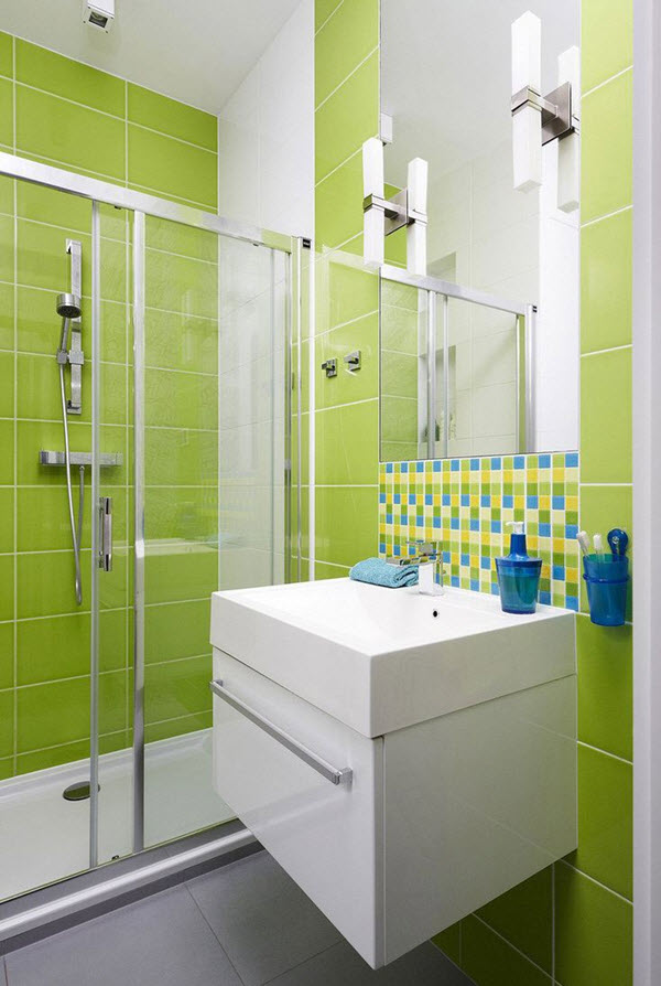 Bathroom Tile Ideas Green 40 lime green bathroom tiles ideas and pictures