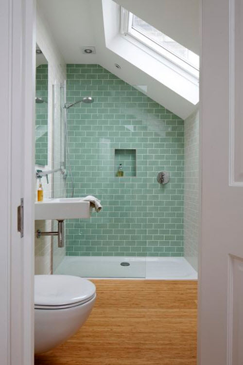 Popular 40 Light Green Bathroom Tile Ideas And Pictures