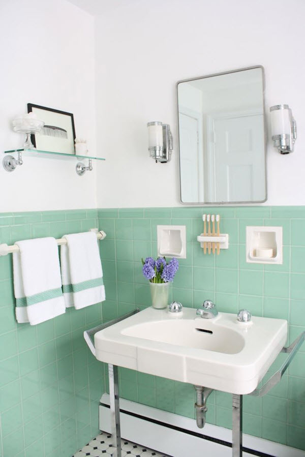 Unique 40 Mint Green Bathroom Tile Ideas And Pictures
