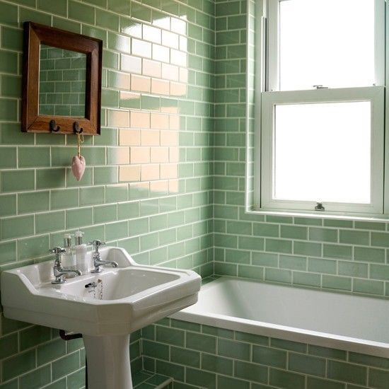 Kitchen Tiles Mint Green: 40 Mint Green Bathroom Tile Ideas And Pictures