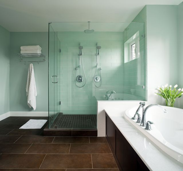 Bathroom Art Minted: 40 Mint Green Bathroom Tile Ideas And Pictures 2019