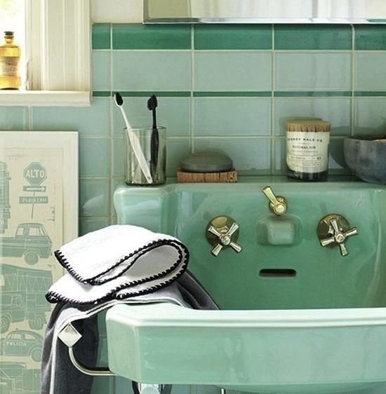 Mint Green And Black Bathroom Ideas : Mint green bathroom tile ideas and pictures