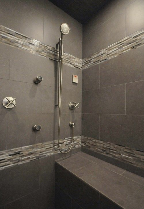 40 modern gray bathroom tiles ideas and pictures for Bathroom ideas gray tile