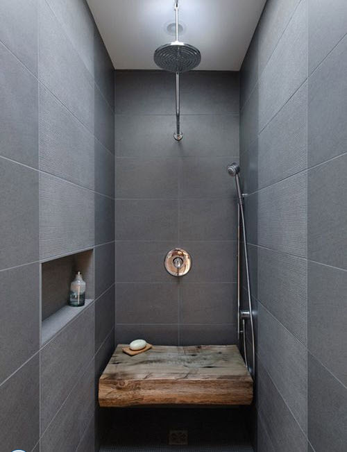 Bathroom Tiles Design Grey : Modern gray bathroom tiles ideas and pictures