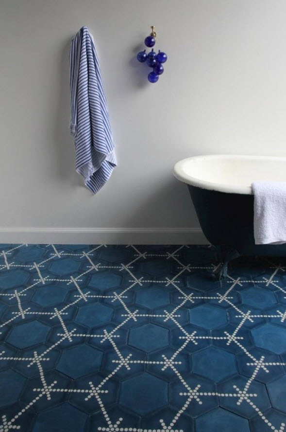 Bathroom Floor Tiles Blue : Navy blue bathroom floor tiles ideas and pictures