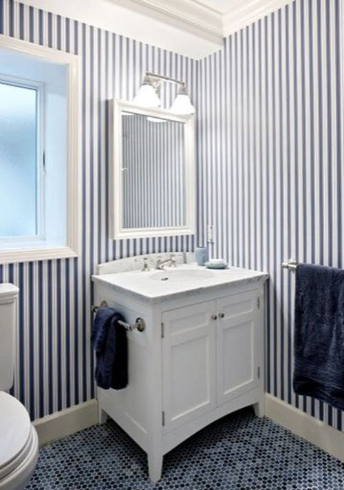 28 Elegant Navy And White Bathroom Tiles