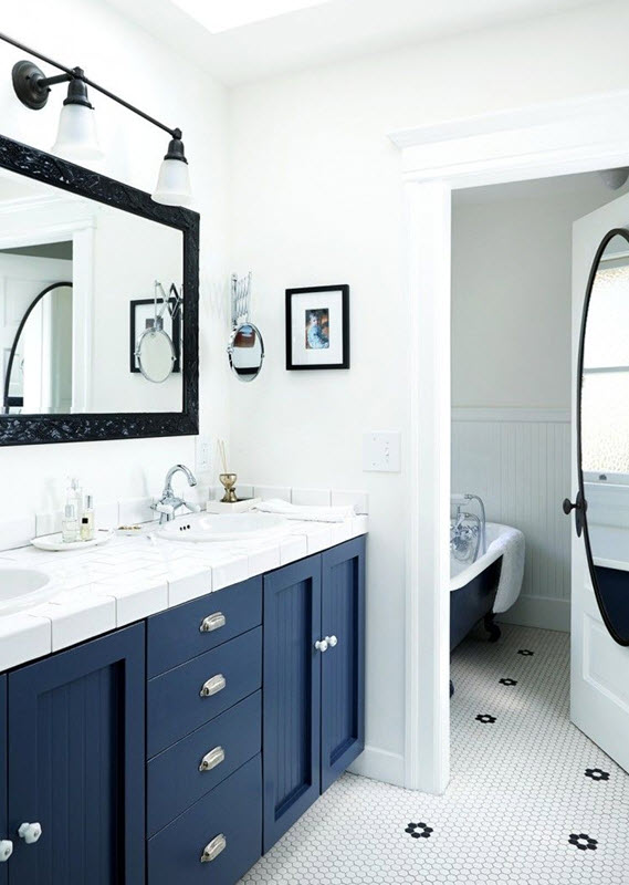 Black And Navy Bathroom on navy blue bathroom, navy and coral bedroom, navy and black jewelry, navy and black bedding, navy and black clothing,