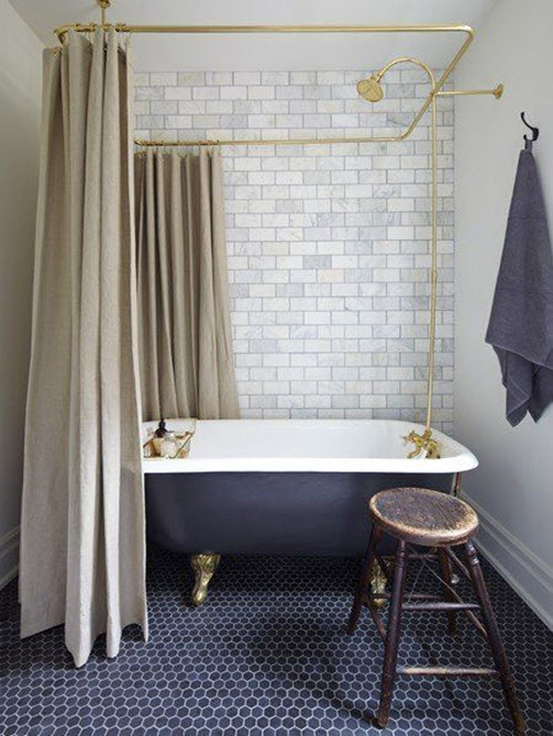 Elegant 40 Navy Blue Bathroom Tiles Ideas And Pictures