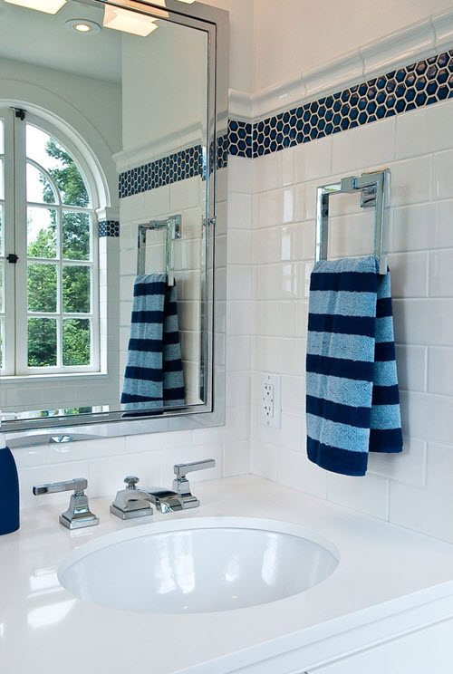 Awesome 40 Navy Blue Bathroom Tiles Ideas And Pictures