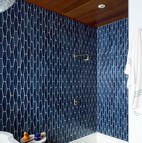 40 navy blue bathroom tiles ideas and pictures Navy blue and white bathroom