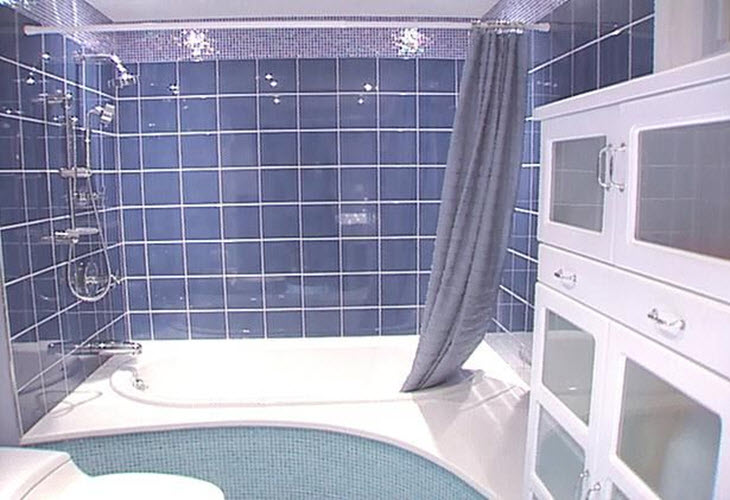 Simple Navy Blue Floor Tile In Their Bathrooms We Hope These Photo Ideas