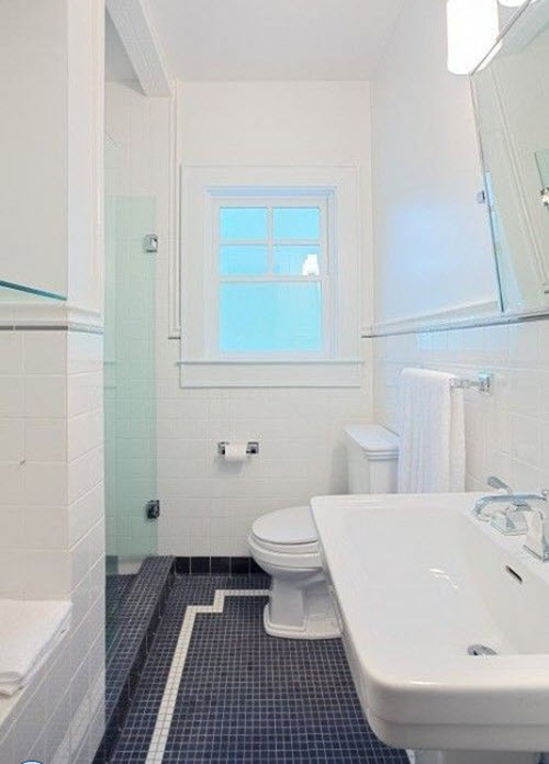 Unique Navy Blue Floor Tile In Their Bathrooms We Hope These Photo Ideas