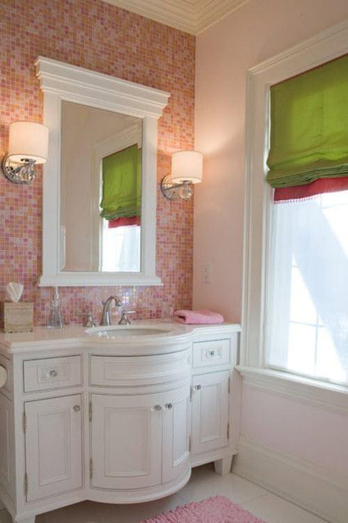 24 Pink Glitter Bathroom Tiles Ideas And Pictures: pink bathroom ideas pictures