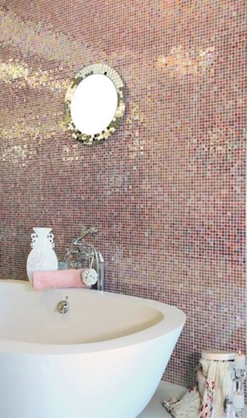 24 Pink Glitter Bathroom Tiles Ideas And Pictures 2019