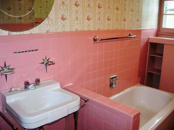 37 Pink Bathroom Wall Tiles Ideas And Pictures