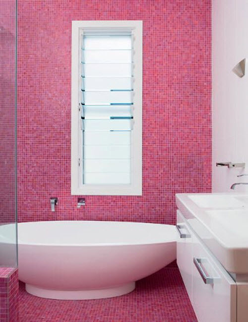 31 lastest pink and white bathroom tiles for Tiles for kids bathroom