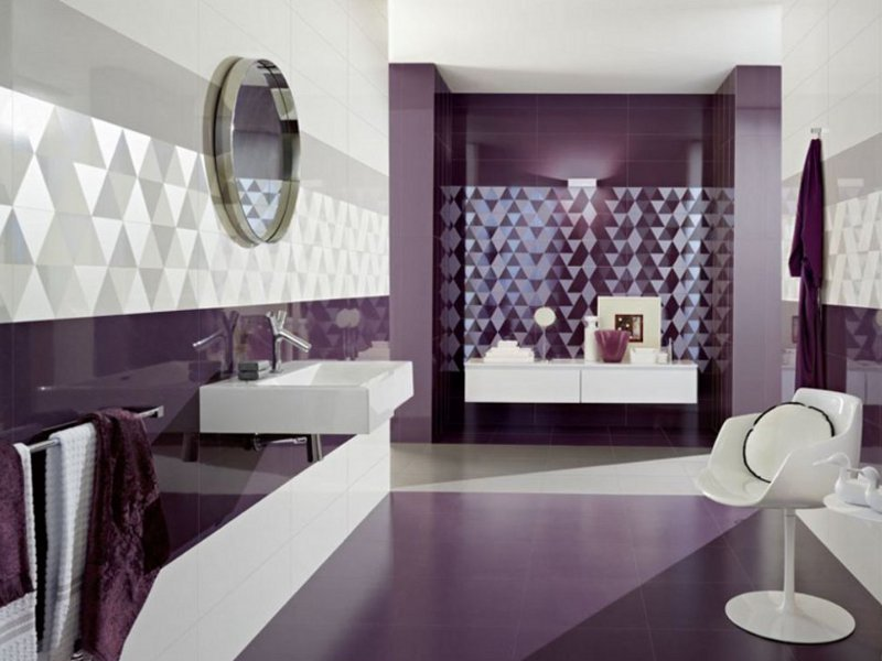 Original Purple Bathroom Tile  Purple Bathroom  Pinterest