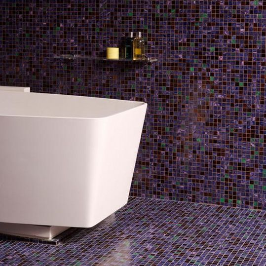 Innovative 40 Purple Bathroom Tile Ideas And Pictures
