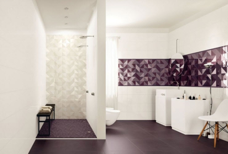 Creative Purple Bathroom Tiles  Bathroom Design Ideas And More
