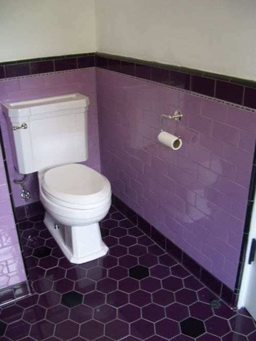 Cool Find This Pin And More On Bathroom Tile Design Purple Bathroom Purple Tile Is A Must In My Bathroom! Love It!
