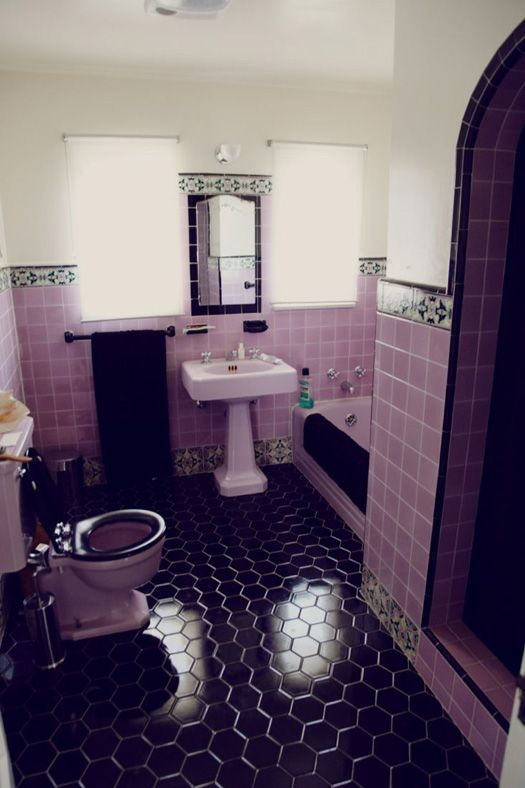 Purple Bathroom Floor Tiles 8