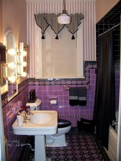 40 Purple Bathroom Tile Ideas And Pictures