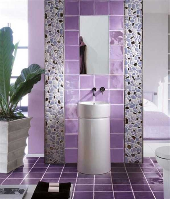 Purple Bathroom Wall Tiles 1 2