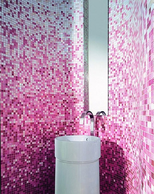 Purple Bathroom Tiles Ideas : Purple bathroom wall tiles ideas and pictures