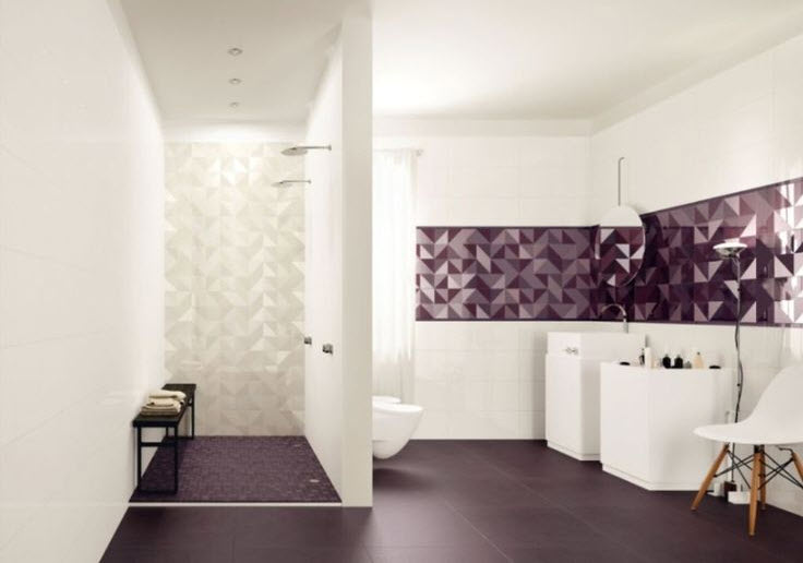 36 purple bathroom wall tiles ideas and pictures - Bathroom Tile Ideas Colour