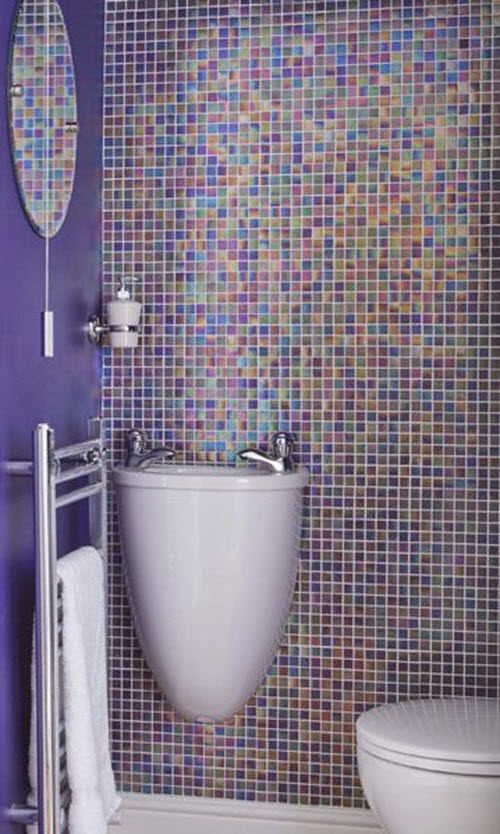 Purple Bathroom Wall Tiles 6
