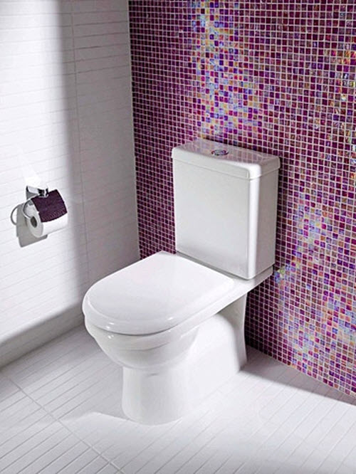 36 purple bathroom wall tiles ideas and pictures for Carrelage mural toilettes