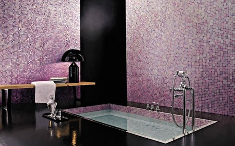 Unique 24 Purple Bathroom Floor Tiles Ideas And Pictures
