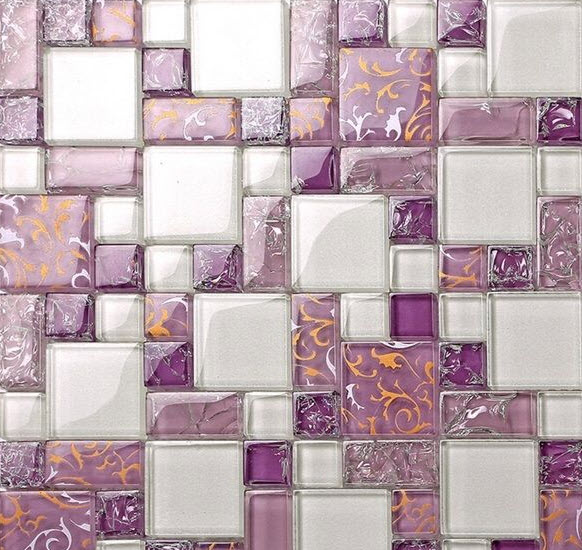 Purple Mosaic Bathroom Tiles 22 23 24 25