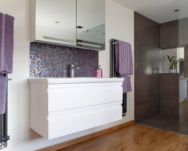 Purple Mosaic Bathroom Tiles 24 25 26 27