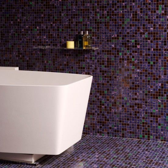 Purple Mosaic Bathroom Tiles 4 5
