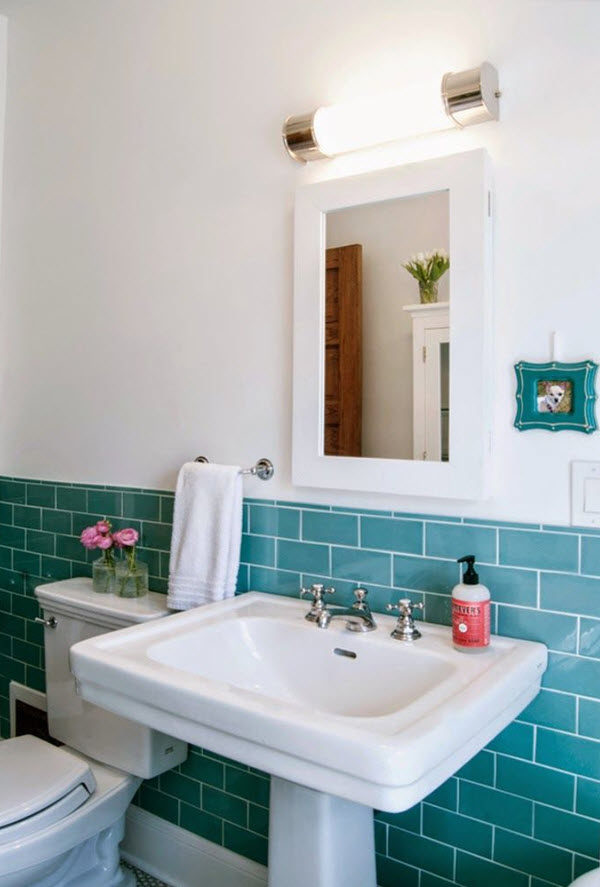 40 Retro Blue Bathroom Tile Ideas And Pictures 2019